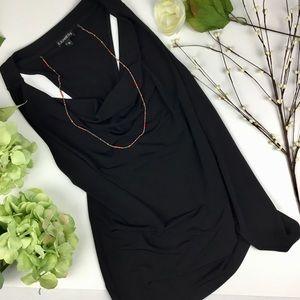 Express Black Dress Shirt Swoop Neck Racer Back
